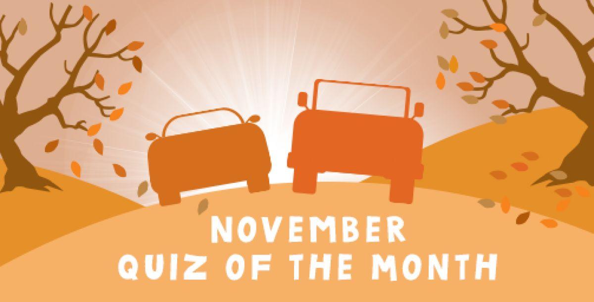 Motoring Quiz of the Month - November