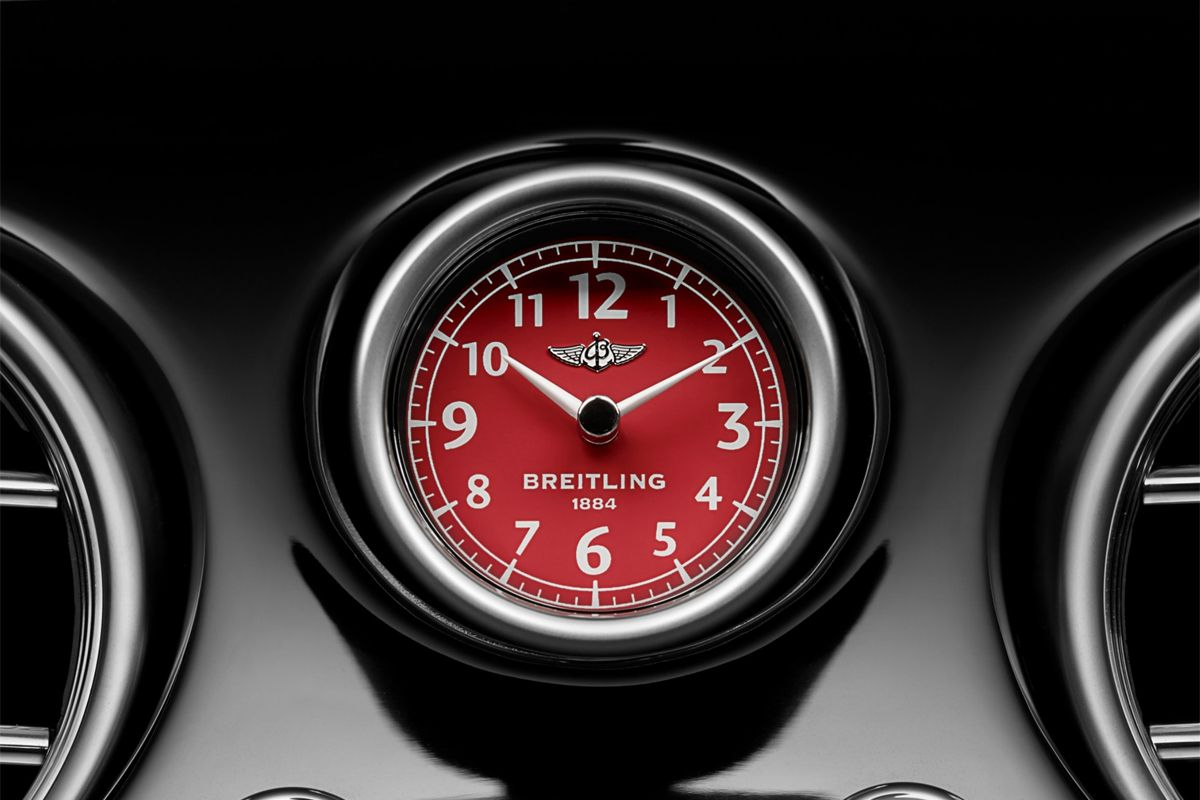 Bentley Red Breitling Clock
