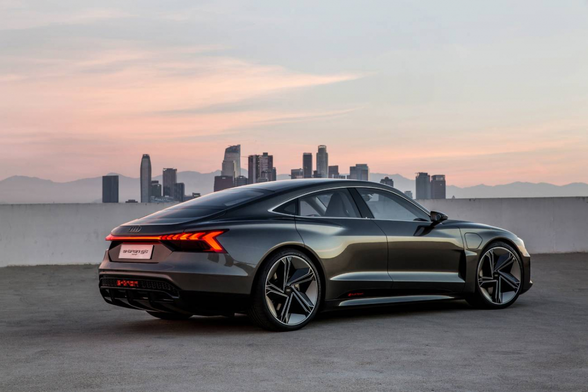Audi's electric charge is set to continue with the brand's new signature car, the e-tron GT Image 0