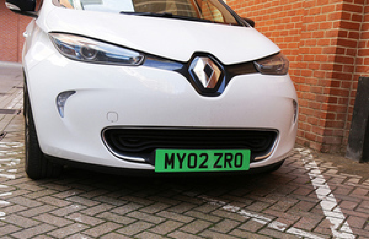 New Green Number Plates for Zero Emission Cars – and Free Parking Image 1
