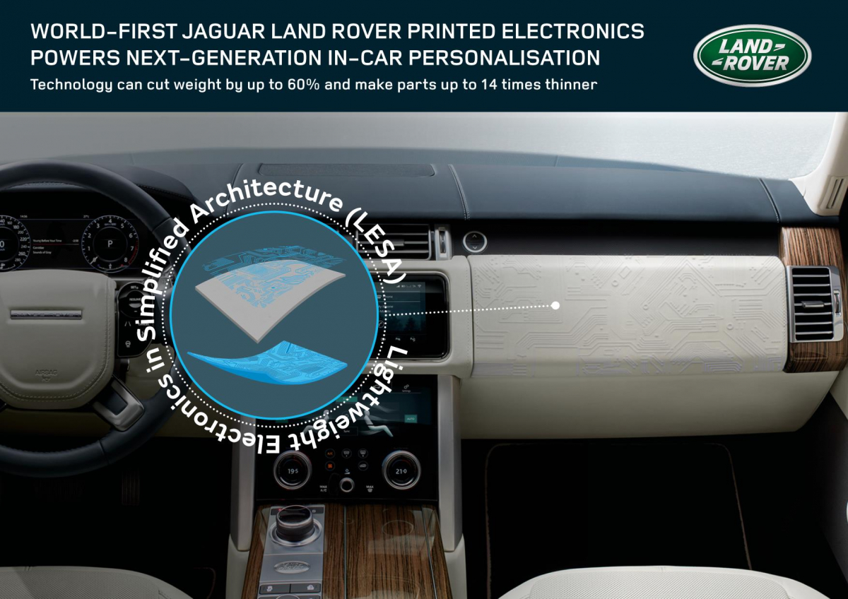 Jaguar Land Rover Experiment With Printed Electronics Image 3