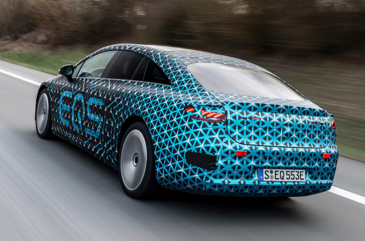 Mercedes-Benz EQS spy shots: Exterior teased Image